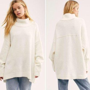 NWT Free People Afterglow Mock Neck Sweater Small